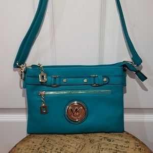 Michael Kors teal crossbody purse